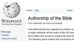 Wikipedia - Bible